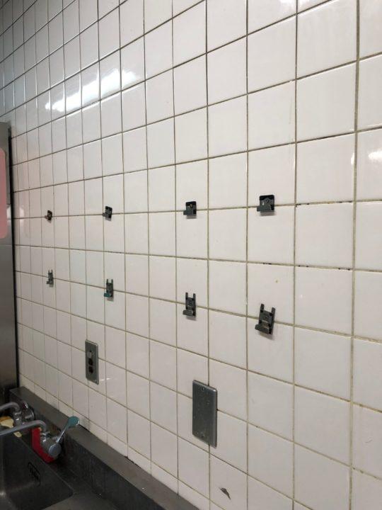 クリーニング後の壁